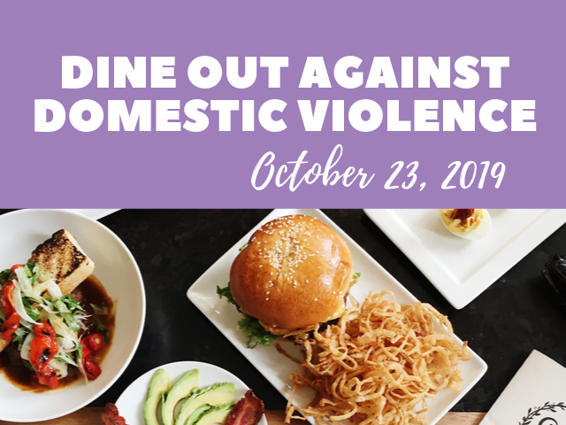 Dine Out Against Domestic Violence, October 23, 2019