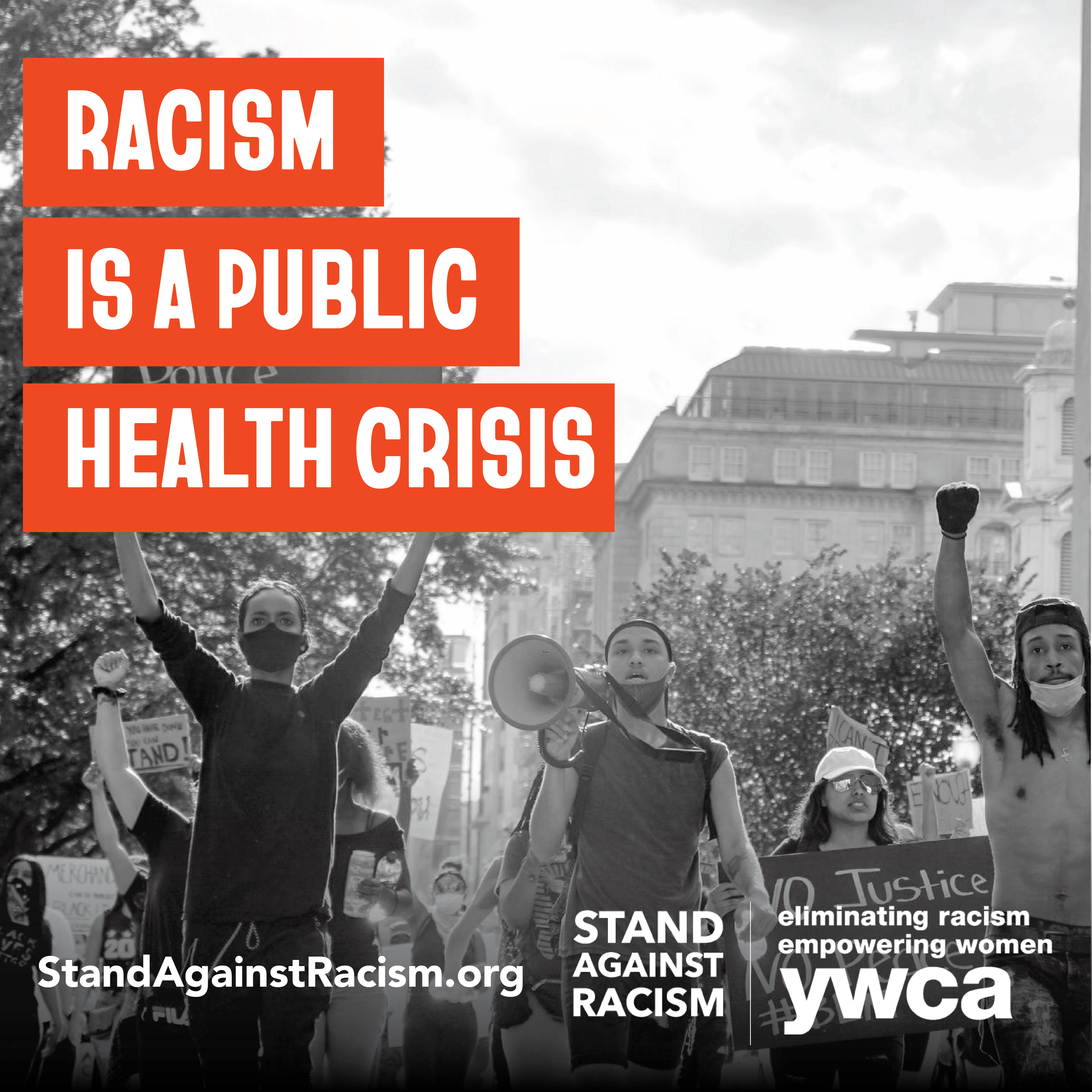 raicism is a public health crisis lead image of people protesting