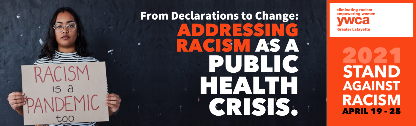 stand against racism banner, address racism as a public health crisis
