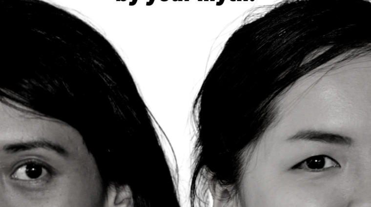 southeast Asian women with the words we will not be defined by your myth