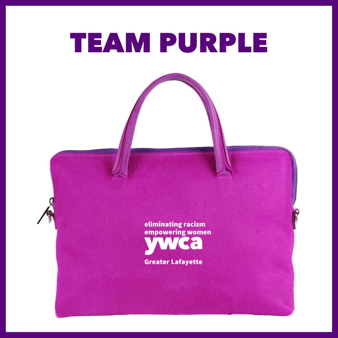 Power of the Purse team purple logo