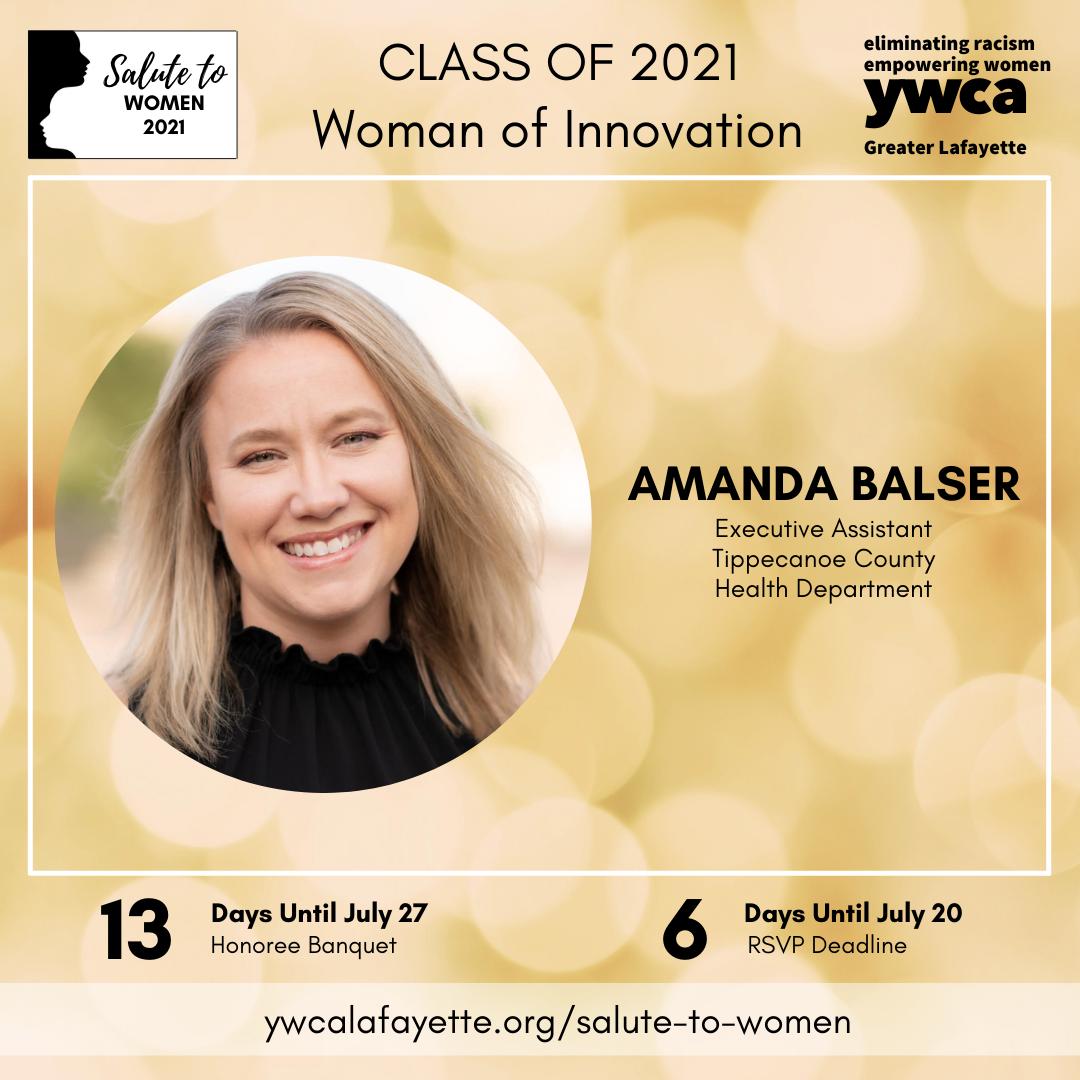 Salute to Women Class of 2021 Amanda Balser