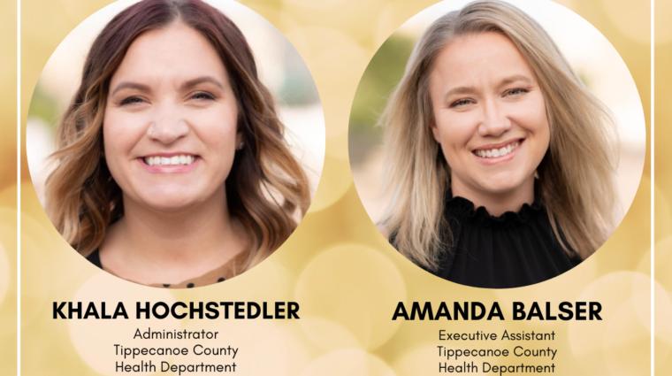Salute to Women Class of 2021 Amanda Balser and Khala Hochstedler